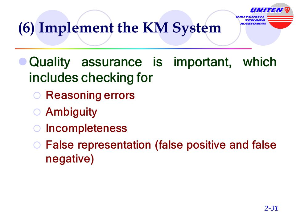 (6) Implement the KM System