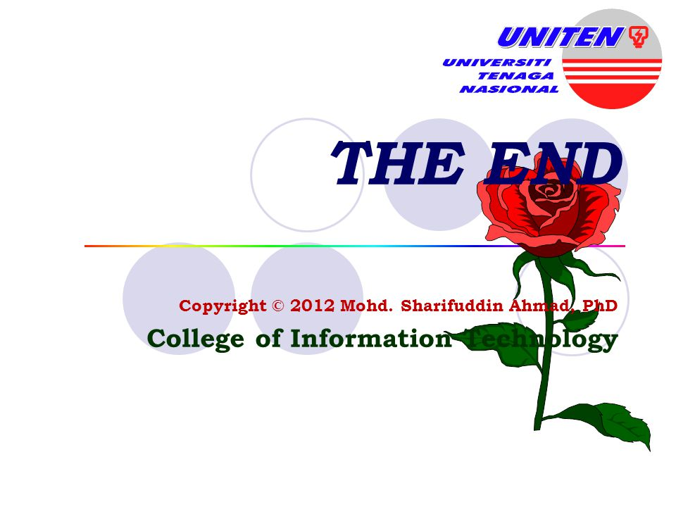 THE END College of Information Technology