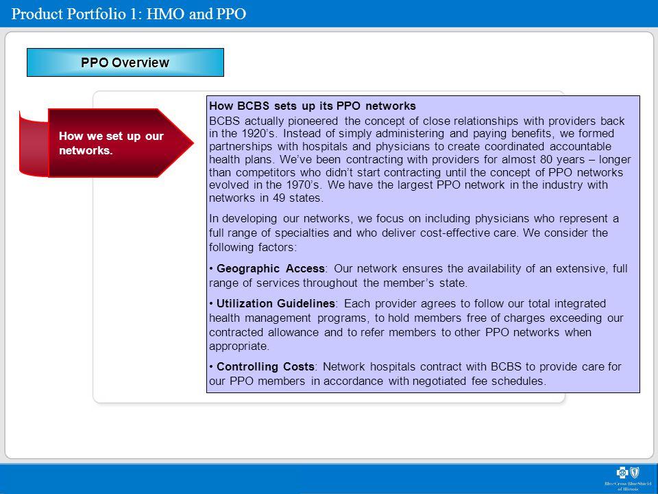 Product Portfolio 1: HMO and PPO