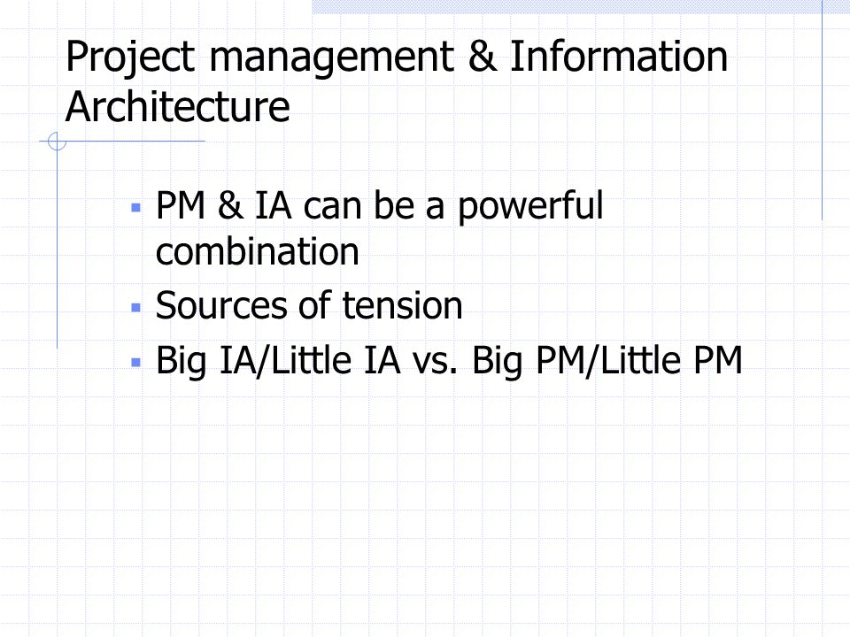 Project management & Information Architecture