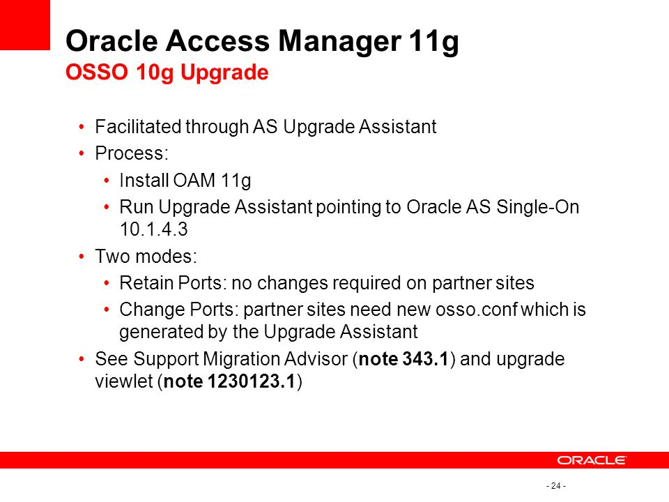 Oracle Access Manager 11g OSSO 10g Upgrade