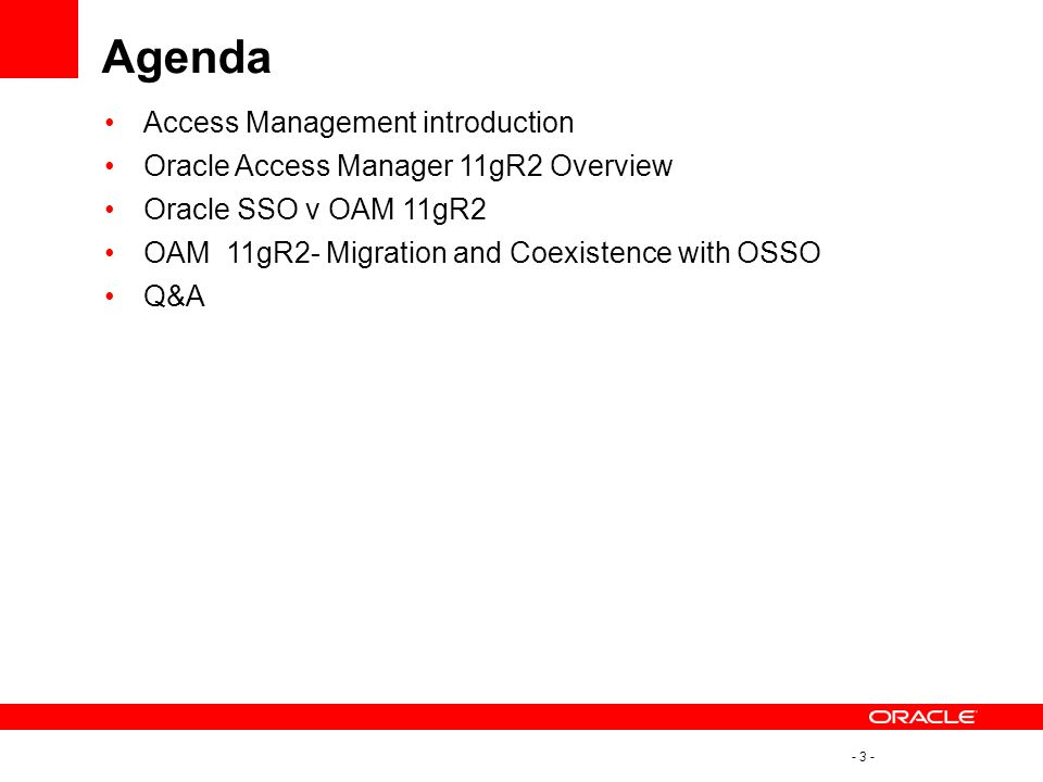Agenda Access Management introduction