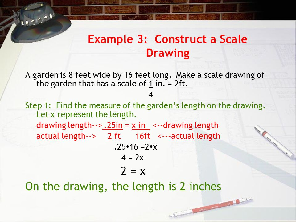 Example 3: Construct a Scale Drawing