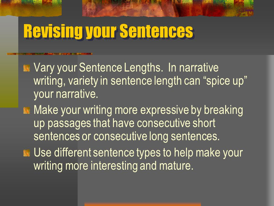 Revising your Sentences