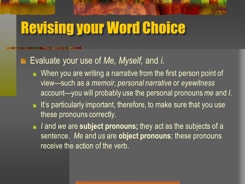 Revising your Word Choice