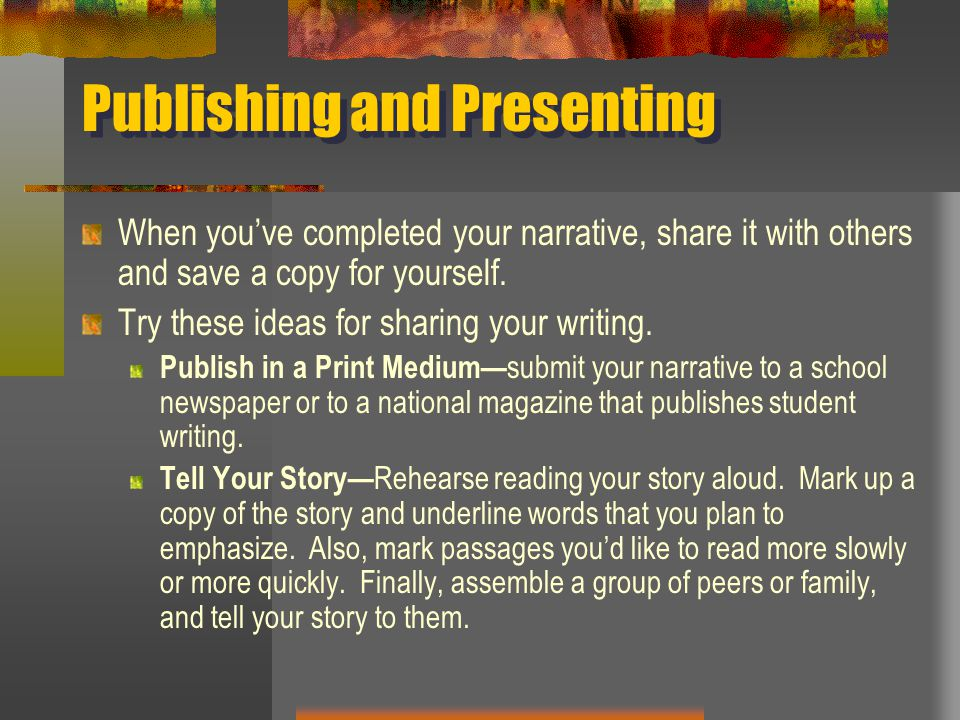 Publishing and Presenting