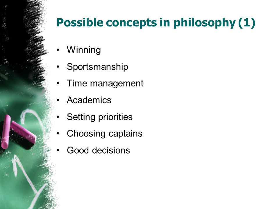 Possible concepts in philosophy (1)