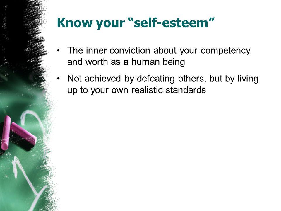 Know your self-esteem