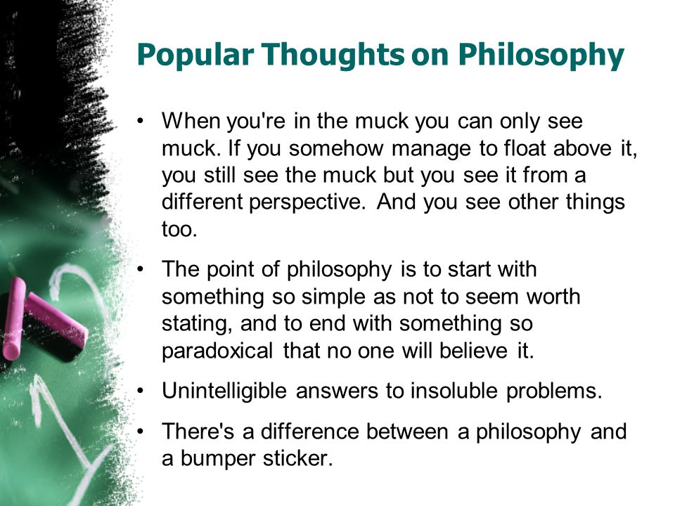 Popular Thoughts on Philosophy