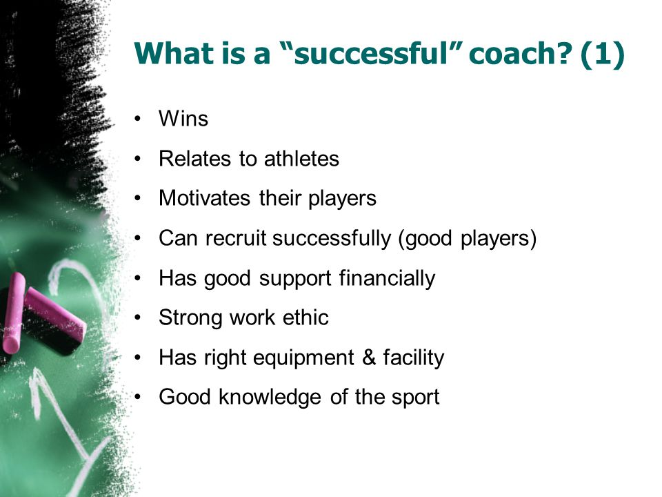 What is a successful coach (1)