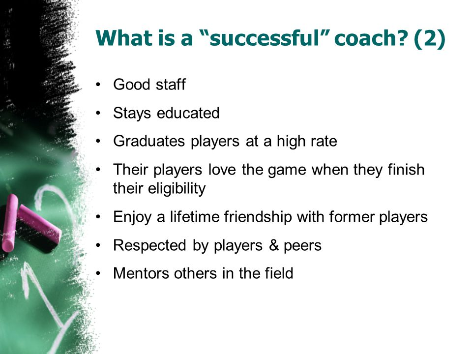 What is a successful coach (2)