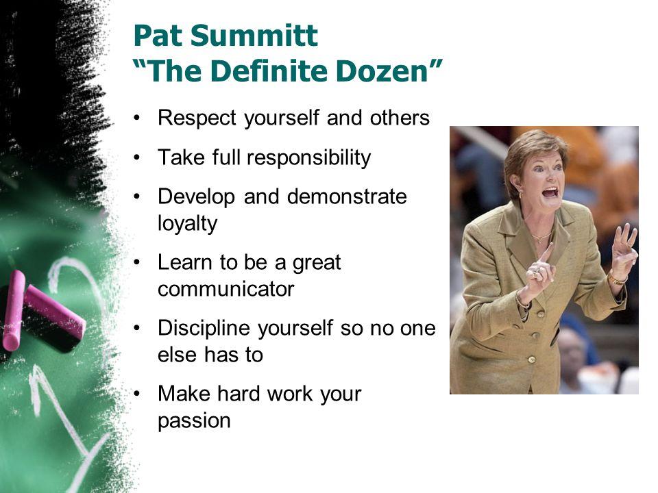 Pat Summitt The Definite Dozen
