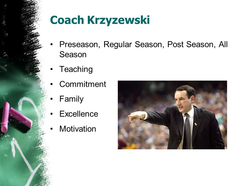 Coach Krzyzewski Preseason, Regular Season, Post Season, All Season