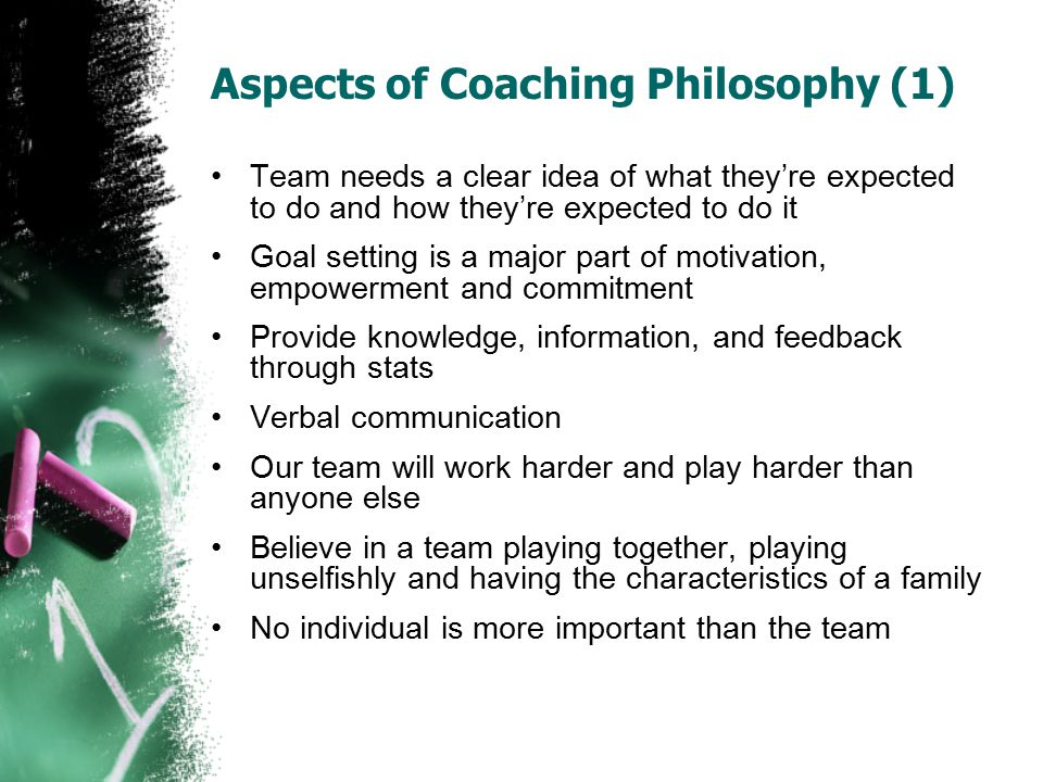Aspects of Coaching Philosophy (1)