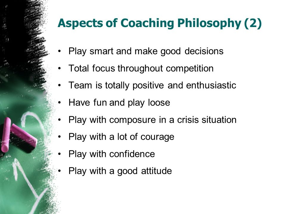 Aspects of Coaching Philosophy (2)