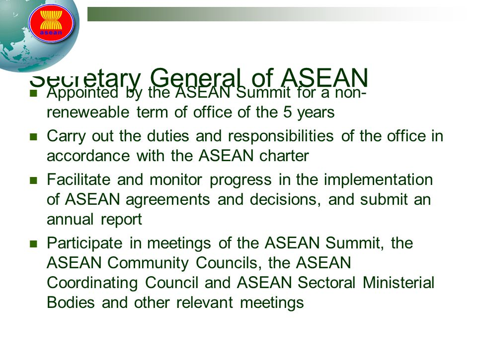 Secretary General of ASEAN