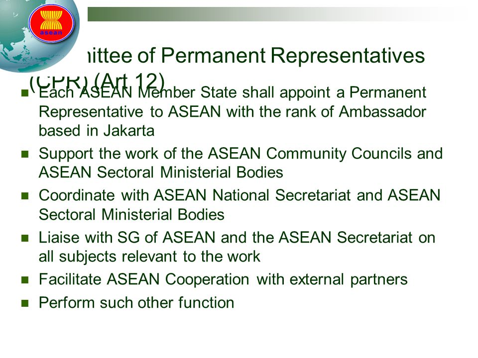 Committee of Permanent Representatives (CPR) (Art 12)