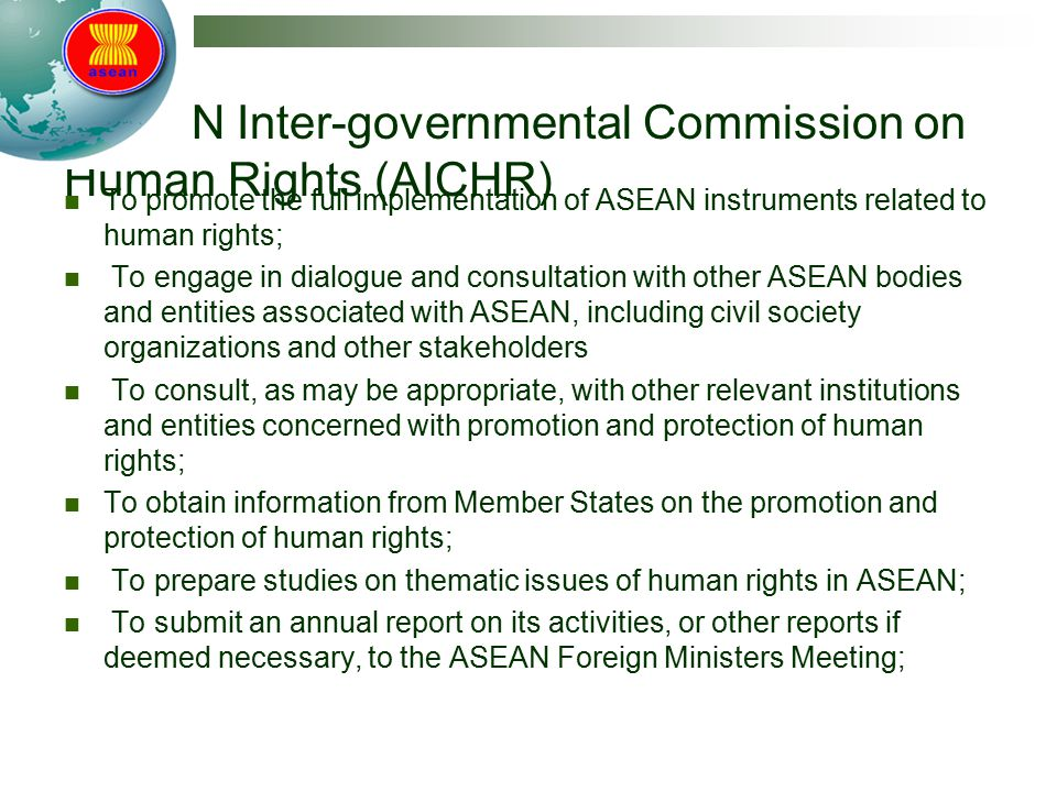 ASEAN Inter-governmental Commission on Human Rights (AICHR)