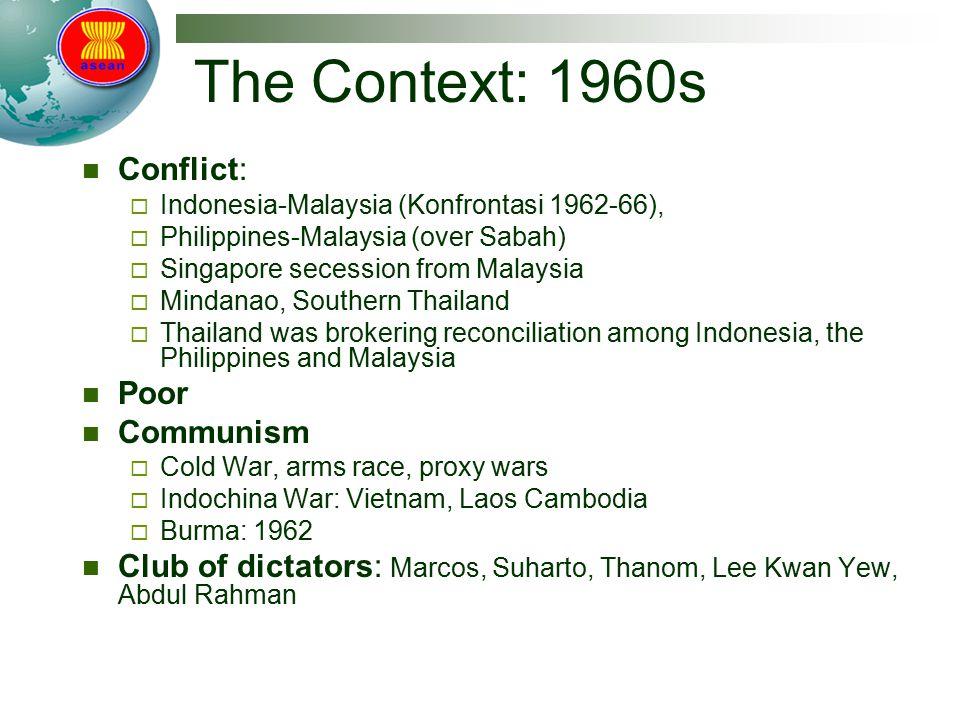 The Context: 1960s Conflict: Poor Communism
