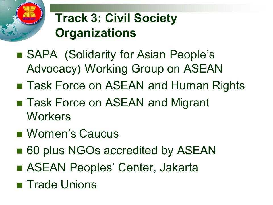 Track 3: Civil Society Organizations