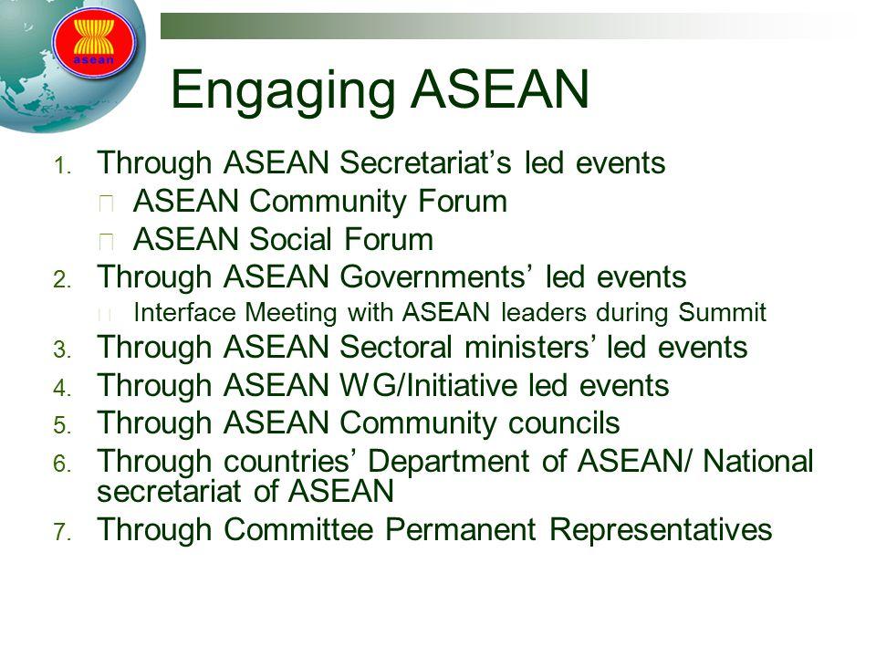 Engaging ASEAN Through ASEAN Secretariat's led events