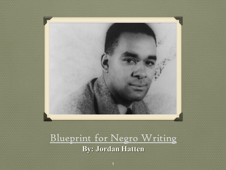 Blueprint for Negro Writing