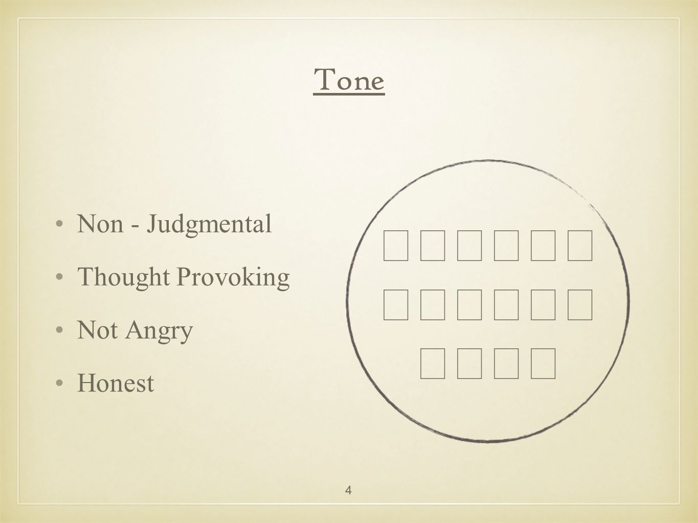 Tone Non - Judgmental Thought Provoking Not Angry Honest 😄😞😥😠😠😨😳😭😶😶 4
