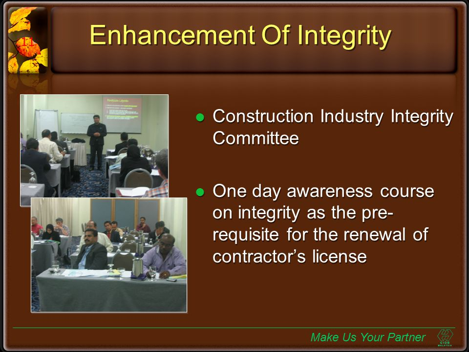 Enhancement Of Integrity