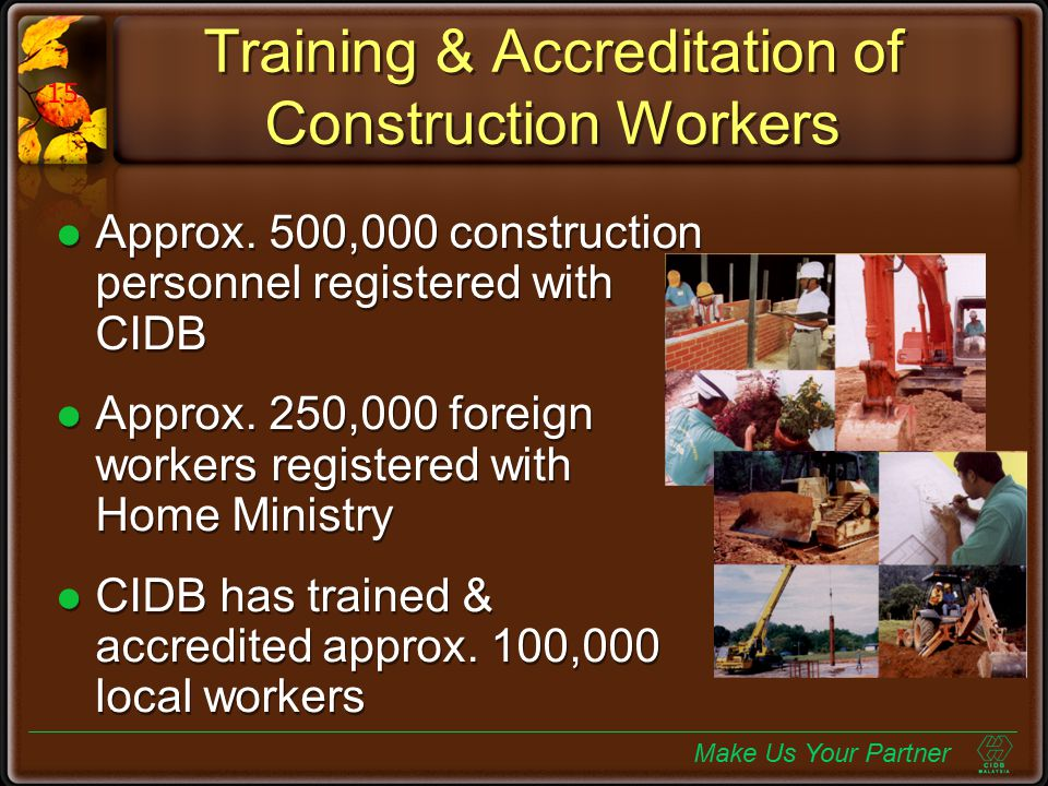 Training & Accreditation of Construction Workers