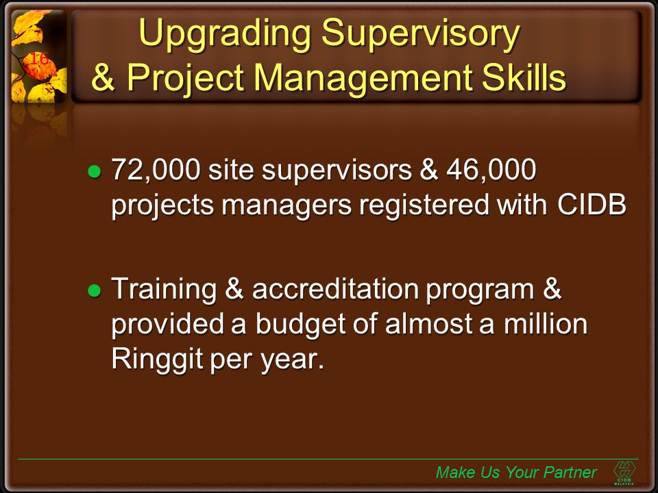 Upgrading Supervisory & Project Management Skills