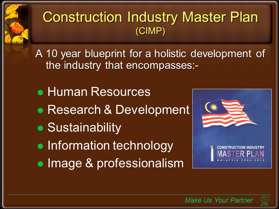 Construction Industry Master Plan (CIMP)