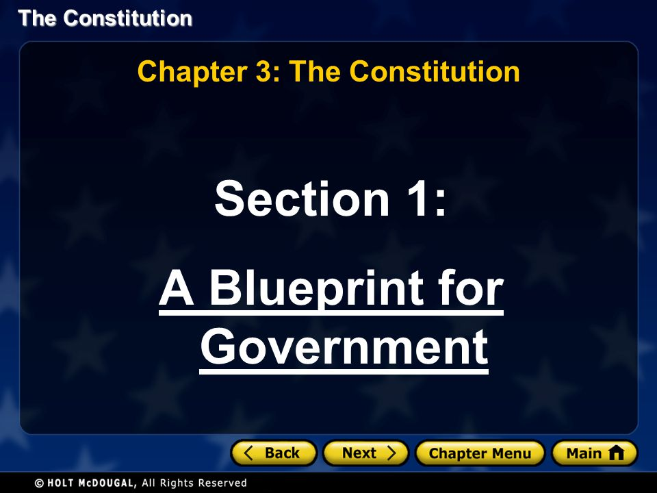 Chapter 3: The Constitution A Blueprint for Government