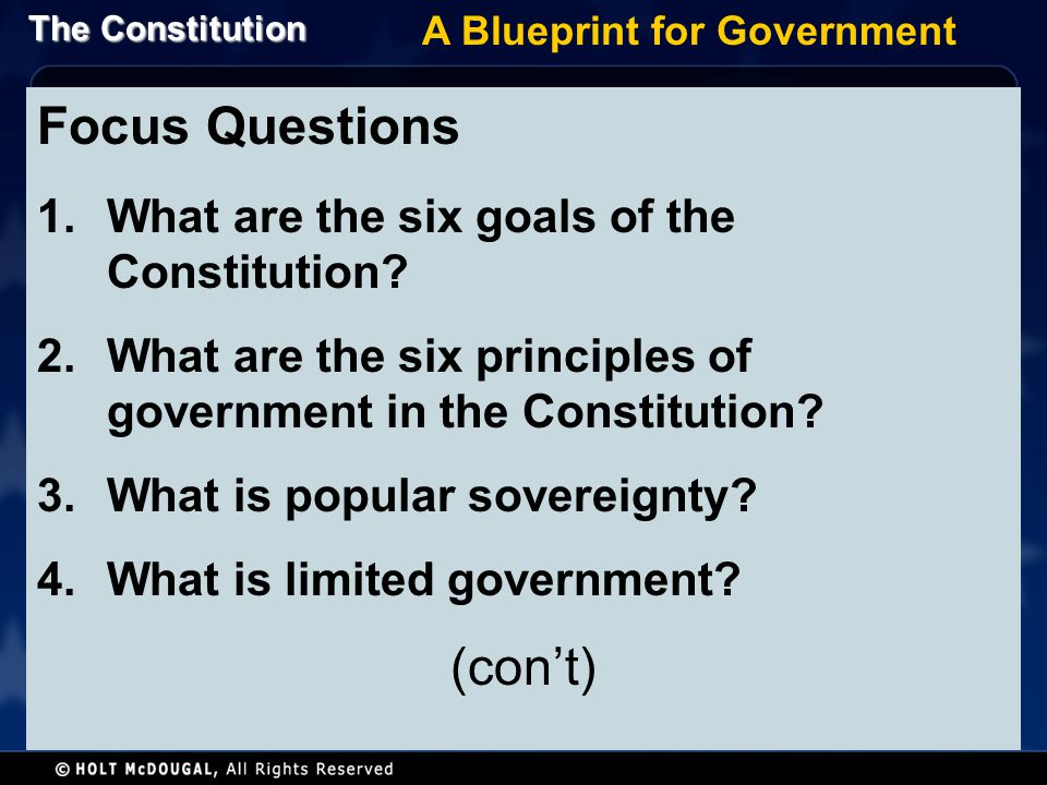 A Blueprint for Government