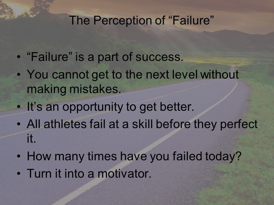 The correct view of failure