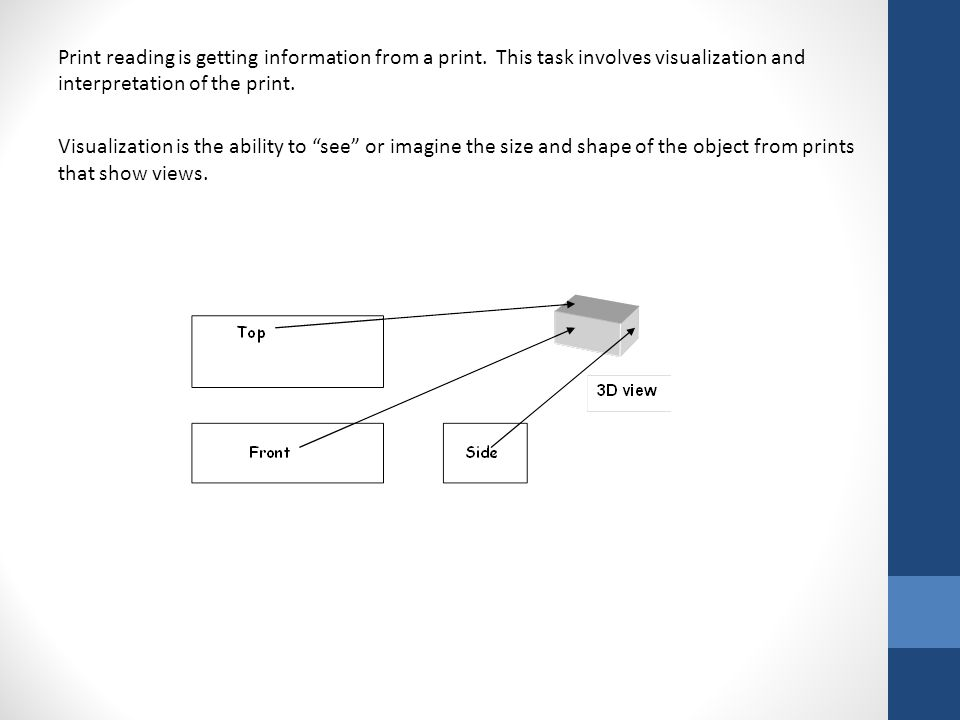 Print reading is getting information from a print