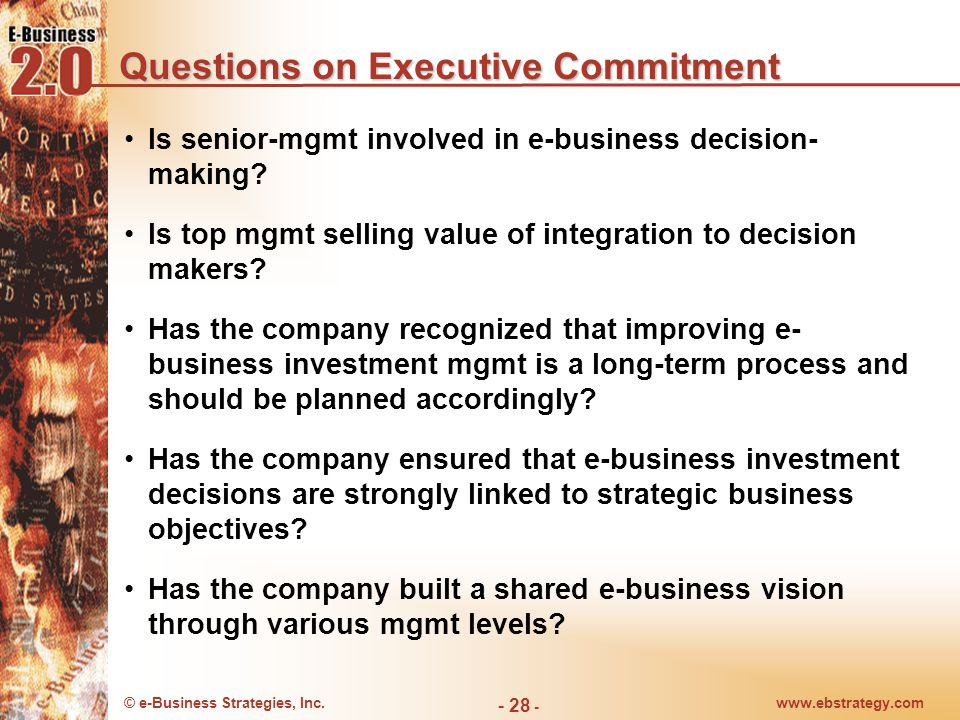 Questions on Executive Commitment