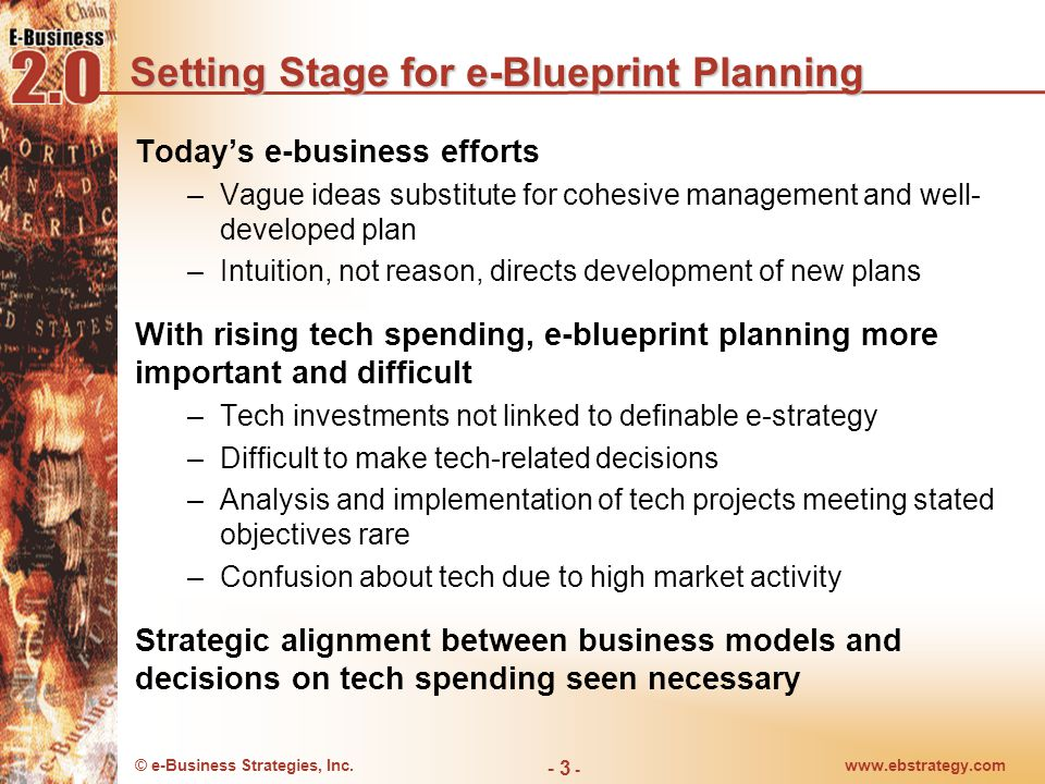 Setting Stage for e-Blueprint Planning