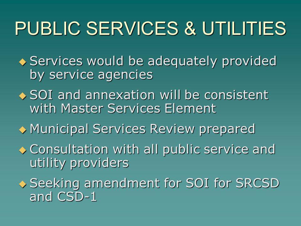 PUBLIC SERVICES & UTILITIES