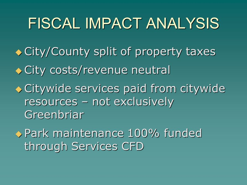 FISCAL IMPACT ANALYSIS