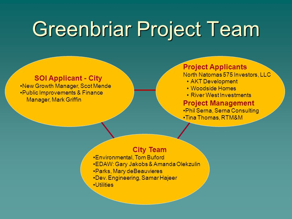 Greenbriar Project Team