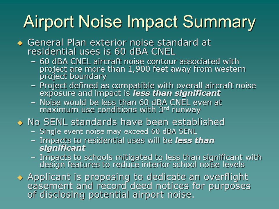 Airport Noise Impact Summary