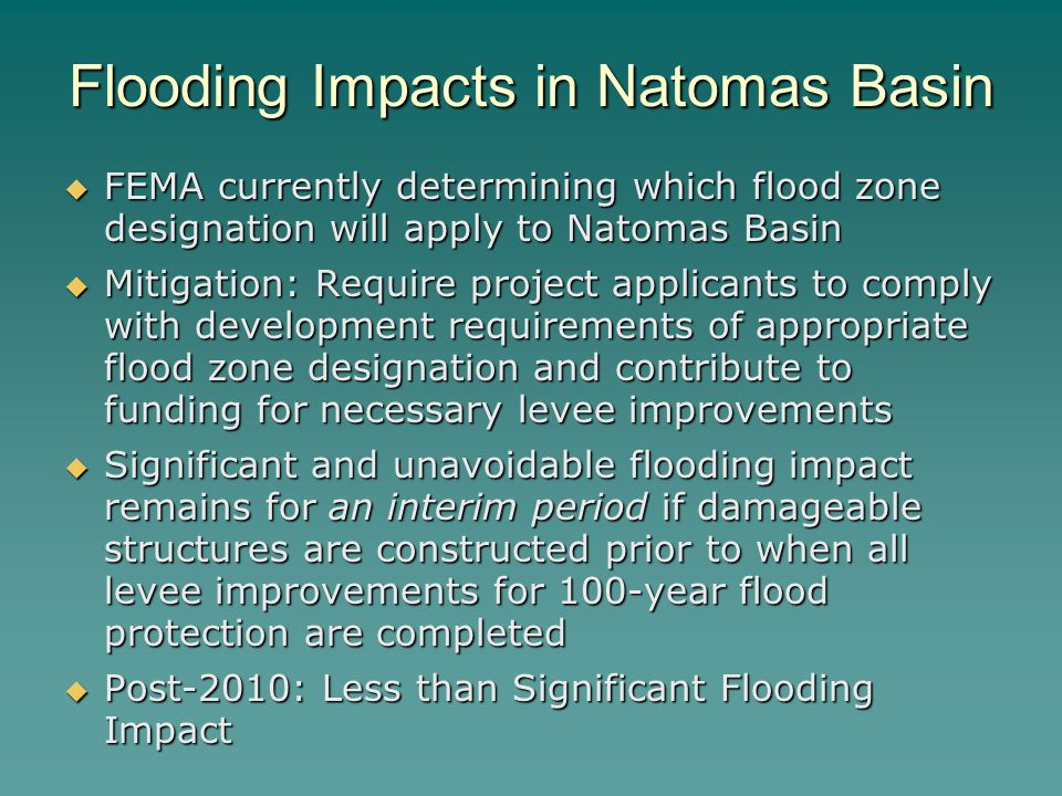 Flooding Impacts in Natomas Basin