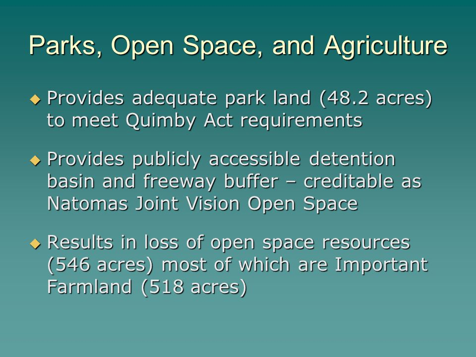 Parks, Open Space, and Agriculture