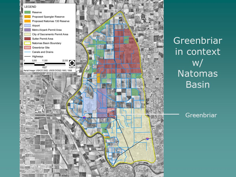 Greenbriar in context w/ Natomas Basin