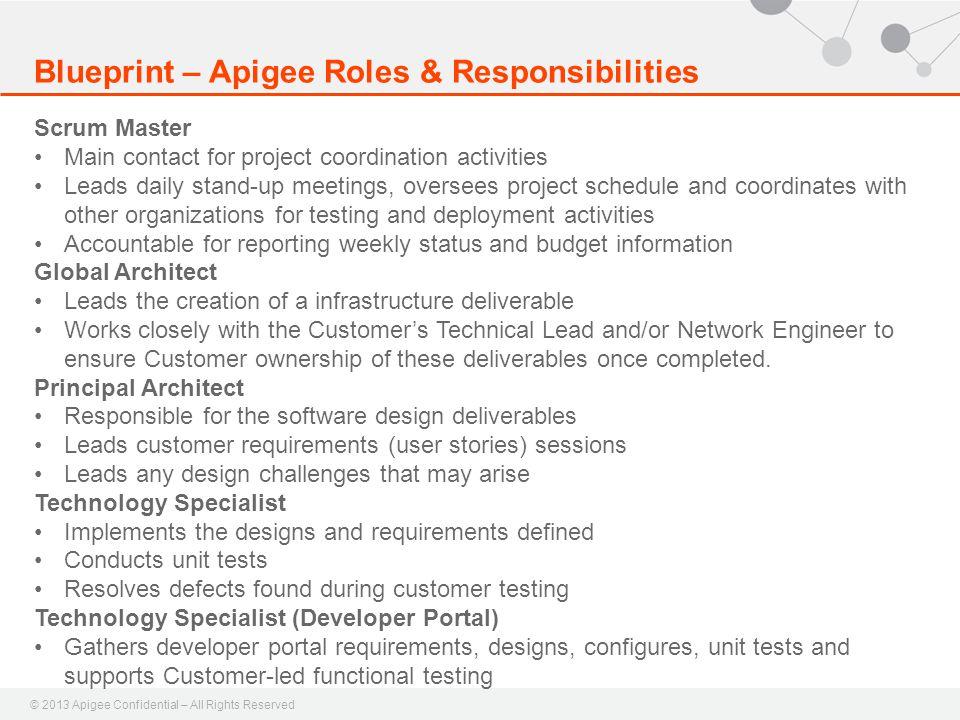 Blueprint – Apigee Roles & Responsibilities