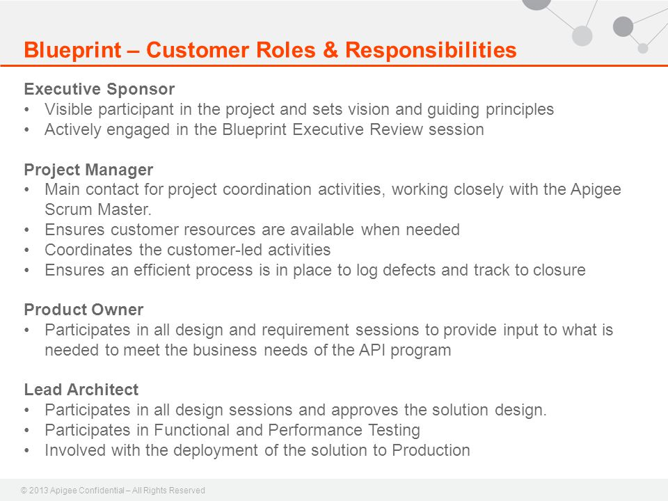 Blueprint – Customer Roles & Responsibilities