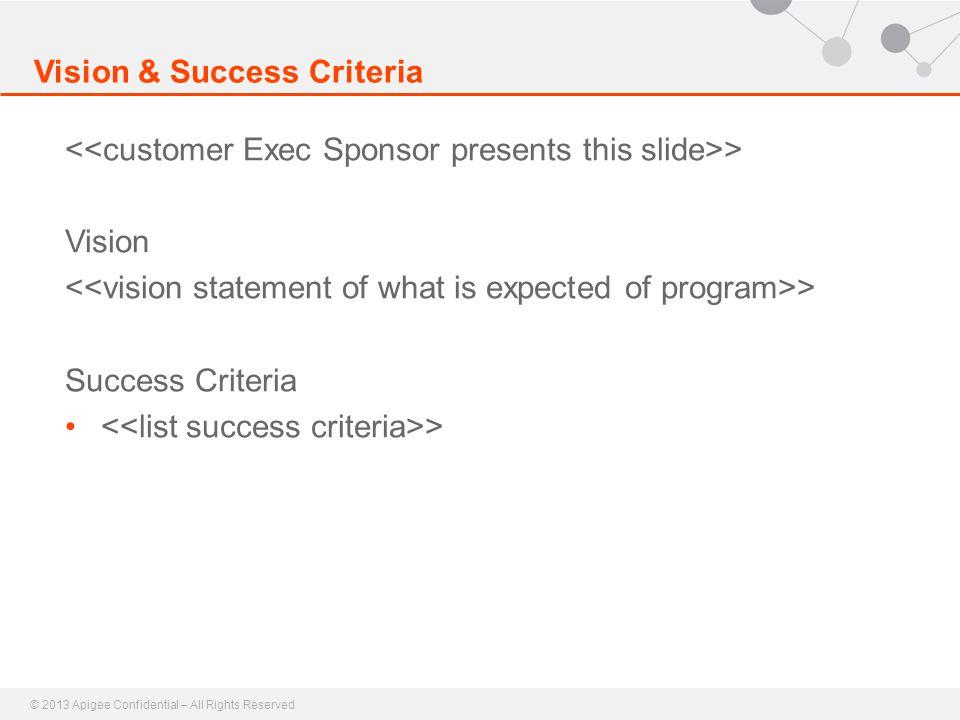 Vision & Success Criteria