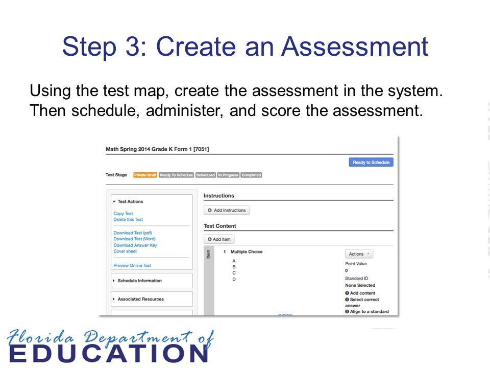 Step 3: Create an Assessment