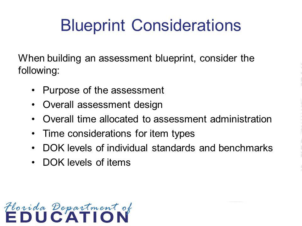 Blueprint Considerations
