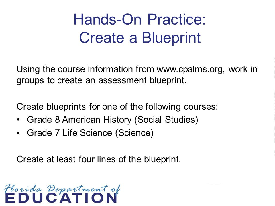 Hands-On Practice: Create a Blueprint